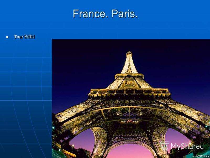 France. Paris. Tour Eiffel Tour Eiffel