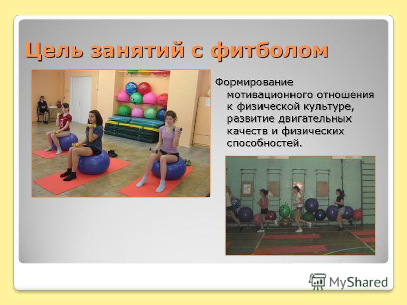Цель занятий с футболом Формирование мотивационного отношения к физической культуре, развитие двигательных качеств и физических способностей.