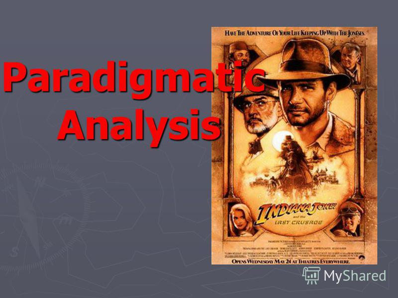 Paradigmatic Analysis