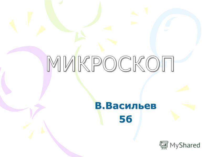 В.Васильев 5 б