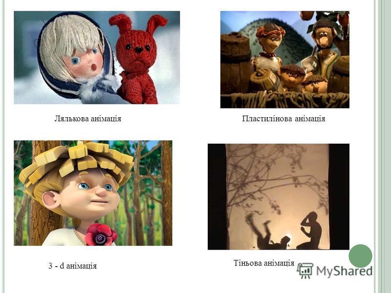 Лялькова анімаціяПластилінова анімація 3 - d анімація Тіньова анімація