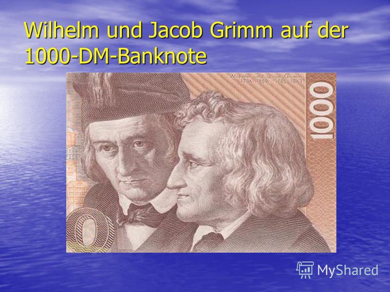 Wilhelm und Jacob Grimm auf der 1000-DM-Banknote