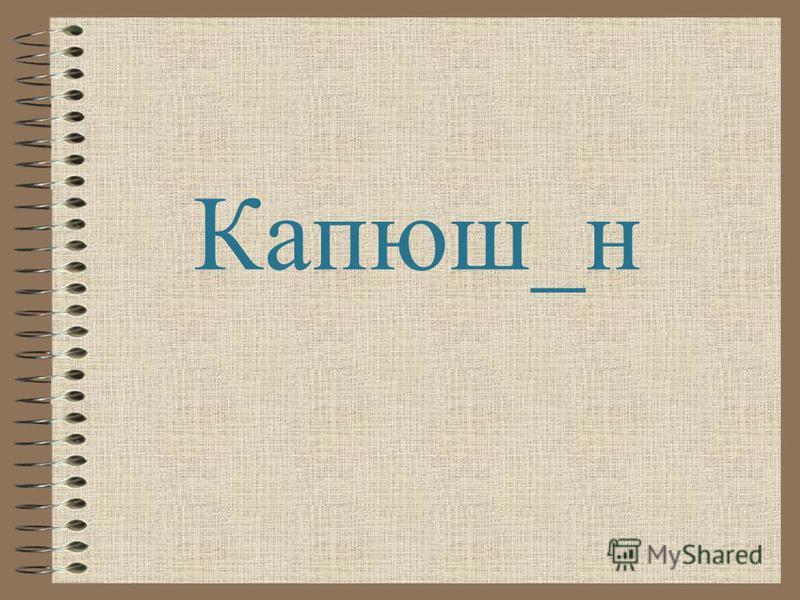 Капюш_н