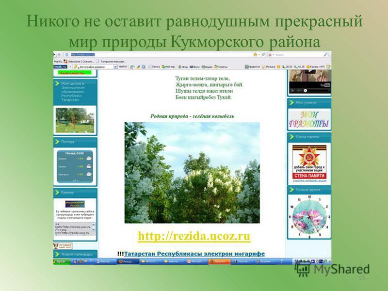 Никого не оставит равнодушным прекрасный мир природы Кукморского района http://rezida.ucoz.ru 13