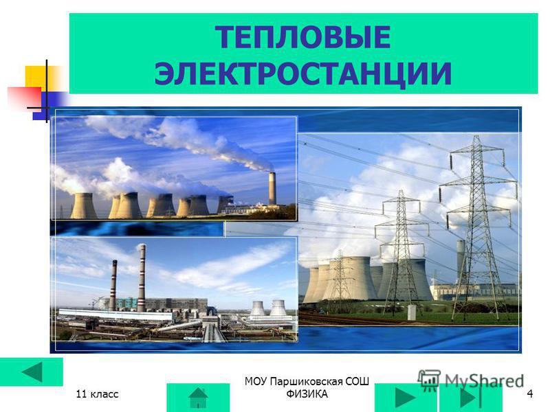11 класс МОУ Паршиковская СОШ ФИЗИКА3 ВИДЫ ЭЛЕКТРИЧЕСКИХ СТАНЦИЙ 1. ГЭС 2. ТЭС 3. ТЭЦ 4. АЭС 5. Другие ( приливные, ветряные, солнечные, геотермальные)