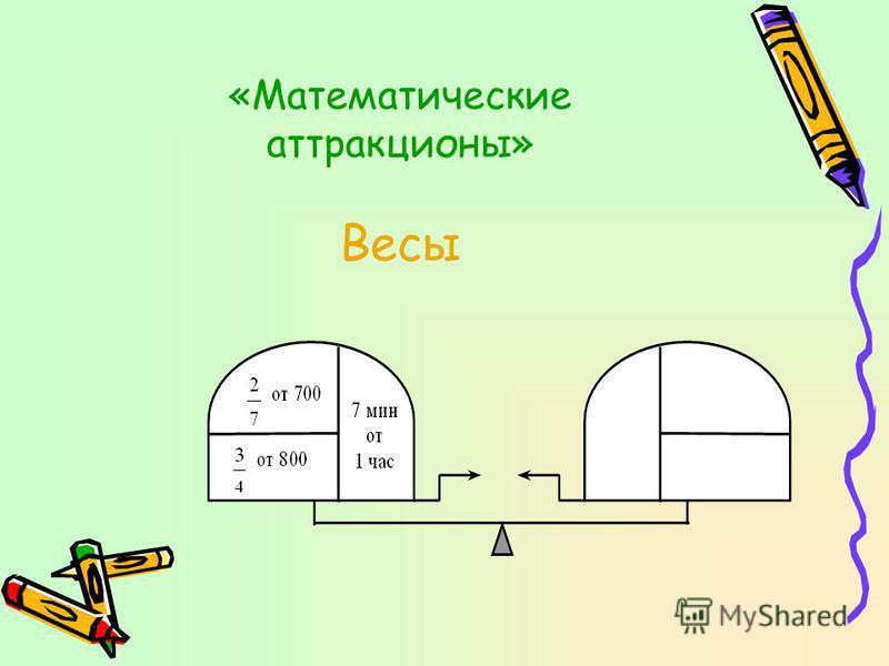 «Математические аттракционы» Весы