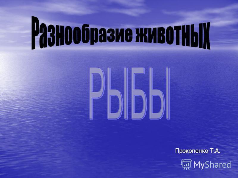 Прокопенко Т.А. Прокопенко Т.А.