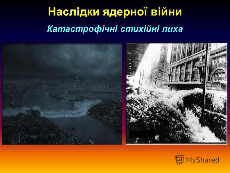 Наслідки ядерної війни Катастрофічні стихійні лиха