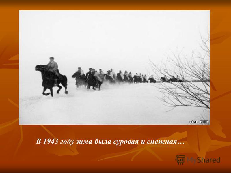 В 1943 году зима была суровая и снежная…