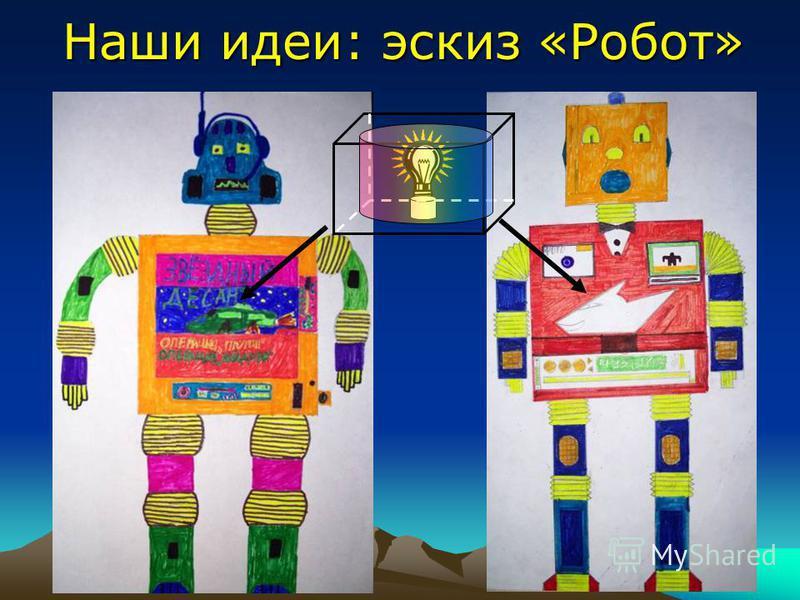 Наши идеи: эскиз «Робот»