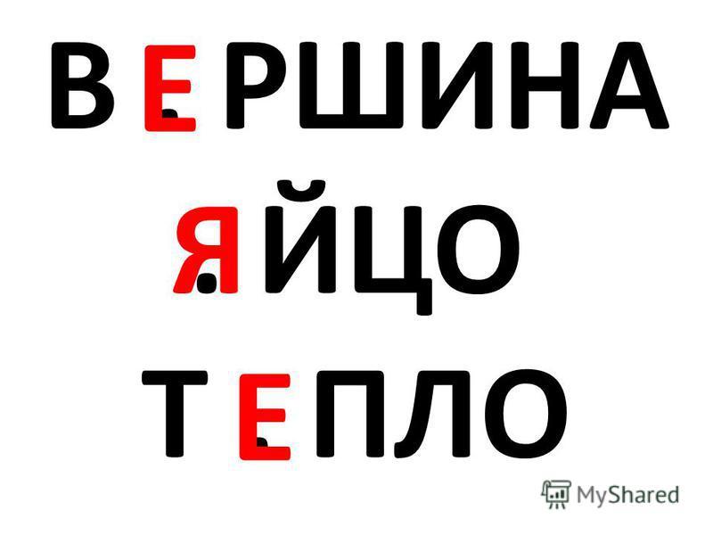 В. РШИНА. ЙЦО Т. ПЛО Е Е Я