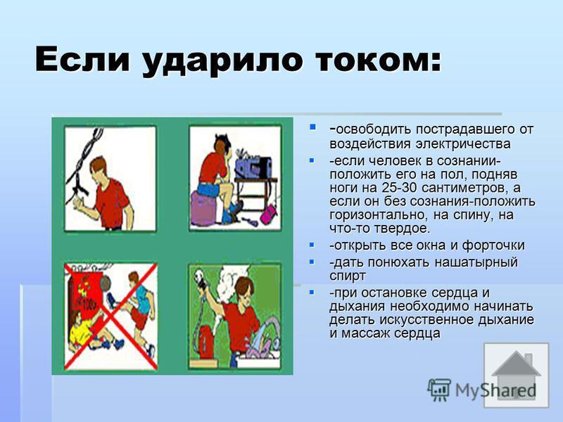 Что делать, чтобы избежать опасности? - меняя лампочку, пробки, моя холодильник или электроплиту, обязательно отключать электричество в квартире; - меняя лампочку, пробки, моя холодильник или электроплиту, обязательно отключать электричество в кварти