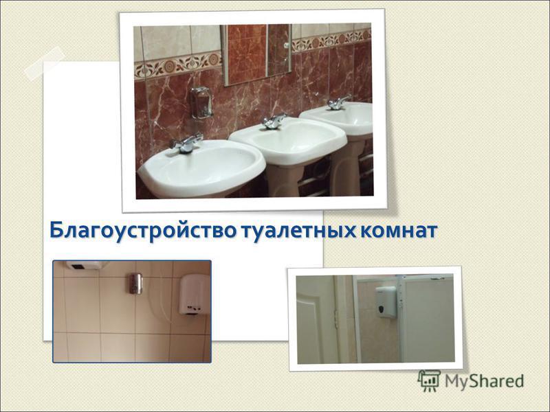 Благоустройство туалетных комнат