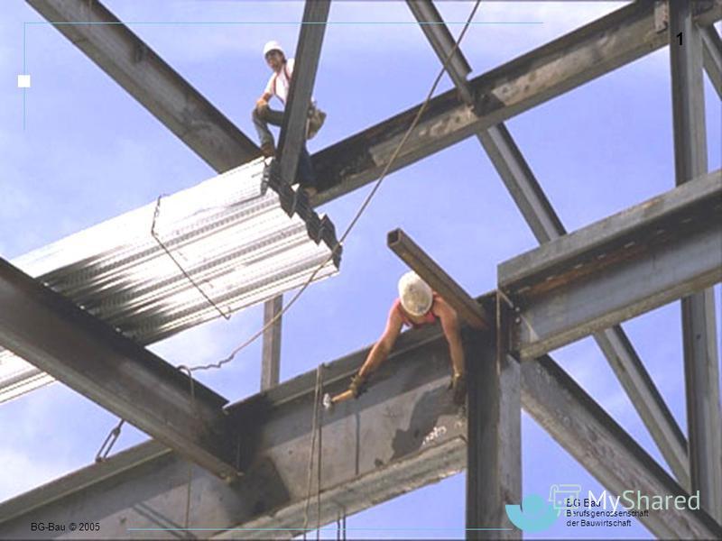 BG-Bau © 2005 BG Bau Berufsgenossenschaft der Bauwirtschaft 1 Berufsbedingte Gesundheitsschäden in Europa 1 BG-Bau © 2005 BG Bau Berufsgenossenschaft der Bauwirtschaft