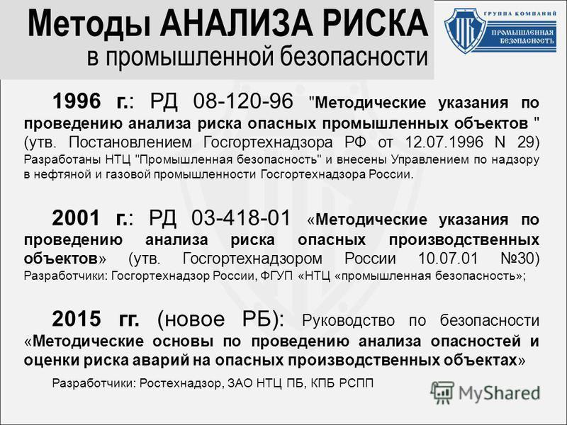1996 г.: РД 08-120-96