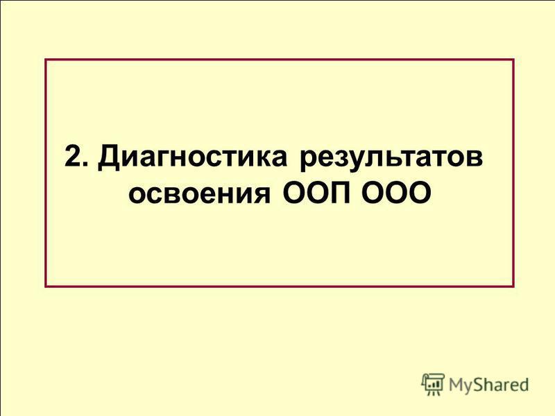 2. Диагностика результатов освоения ООП ООО