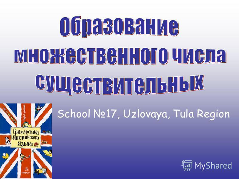 School 17, Uzlovaya, Tula Region