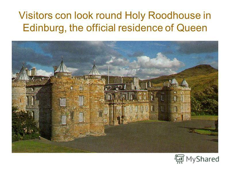 Visitors con look round Holy Roodhouse in Edinburg, the official residence of Queen