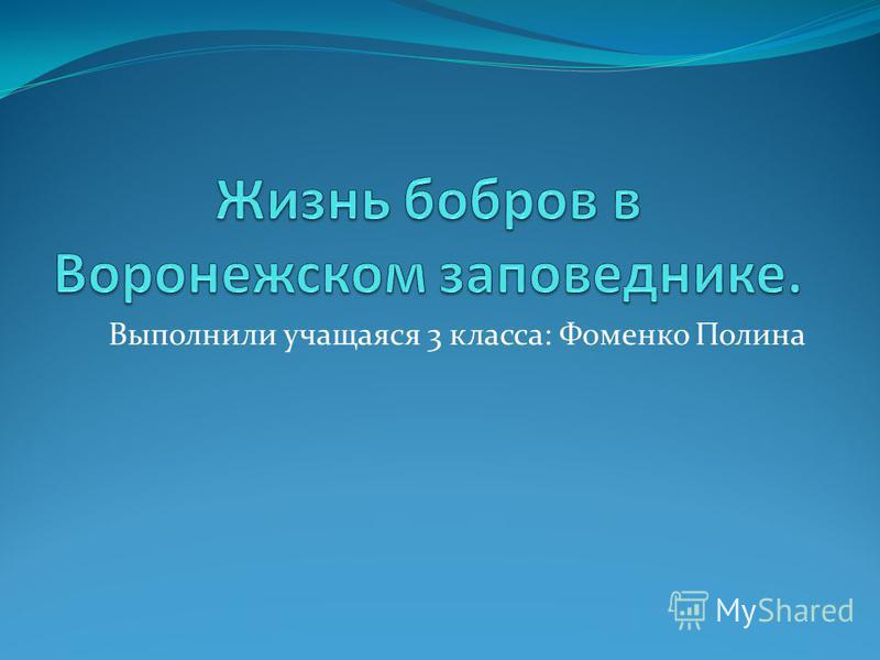 Выполнили учащаяся 3 класса: Фоменко Полина