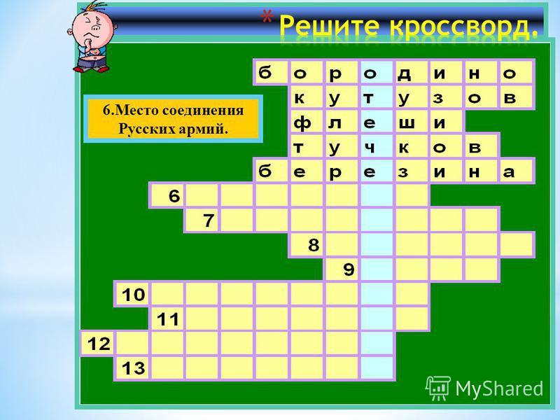 6. Место соединения Русских армий.