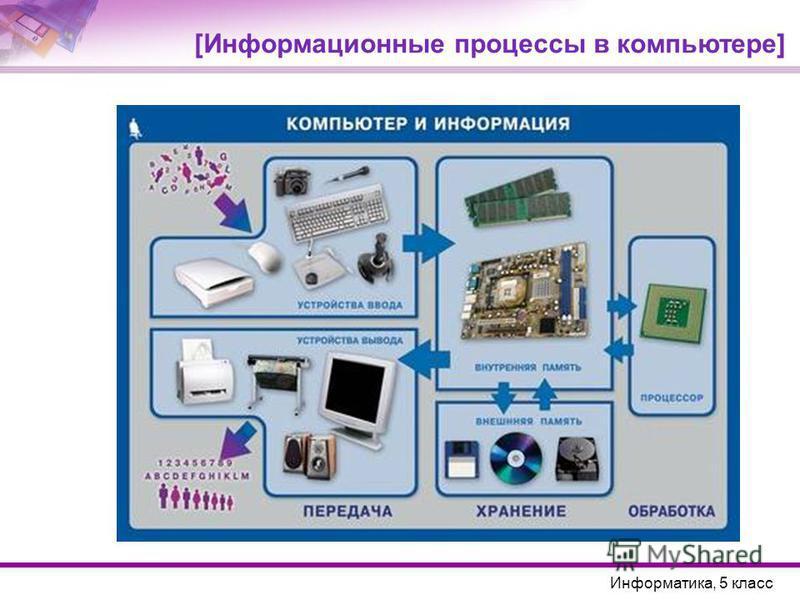 [Информационные процессы в компьютере] Информатика, 5 класс