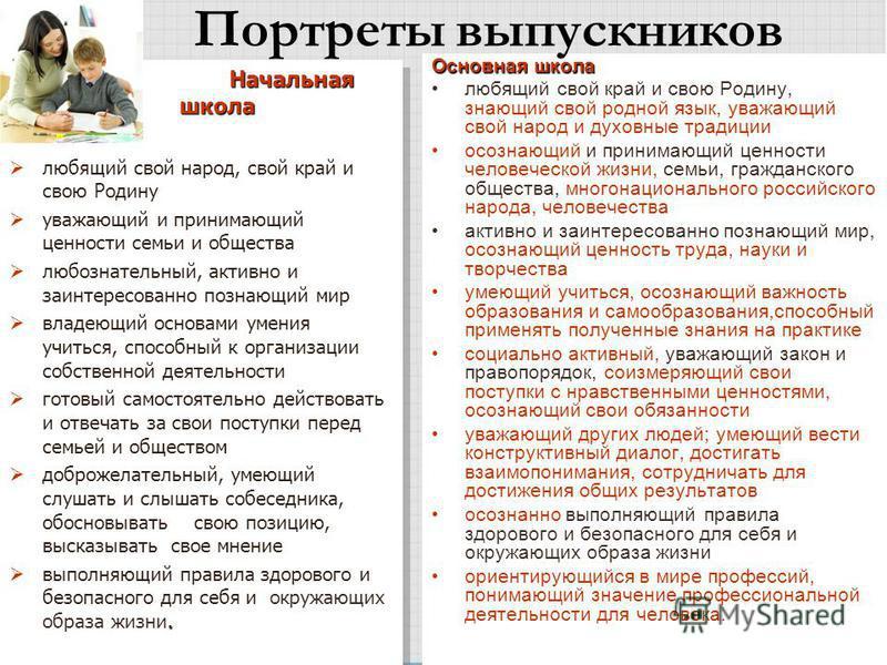 Основная школа любящий свой край и свою Родину, знающий свой родной язык, уважающий свой народ и духовные традиции осознающий и принимающий ценности человеческой жизни, семьи, гражданского общества, многонационального российского народа, человечества