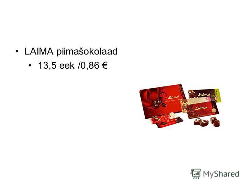 LAIMA piimašokolaad 13,5 eek /0,86