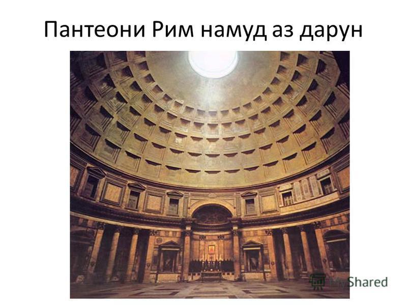 Пантеони Рим намуд аз дарун
