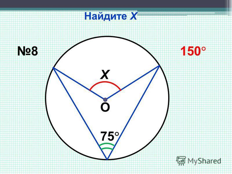 Найдите Х Х 75 8 150 О