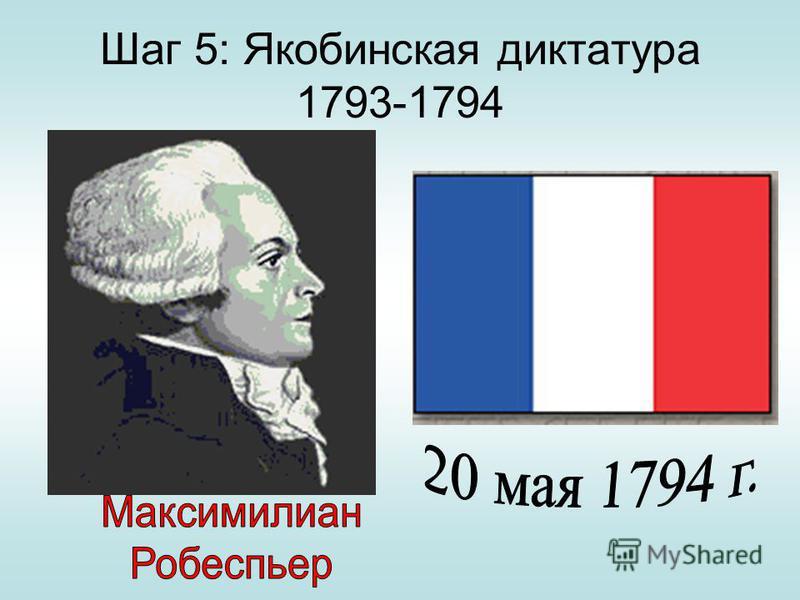 Шаг 5: Якобинская диктатура 1793-1794