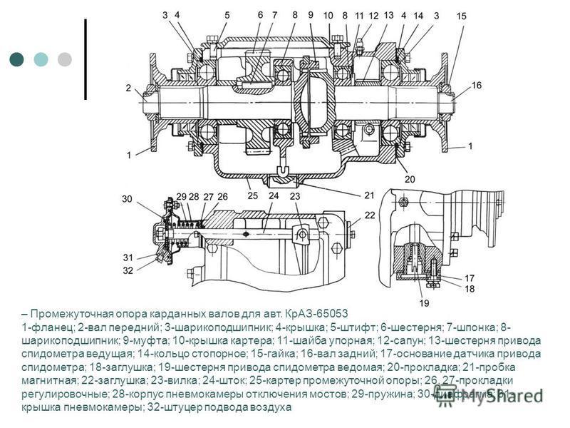Промежуточная опора трактора МТЗ-82, МТЗ-52