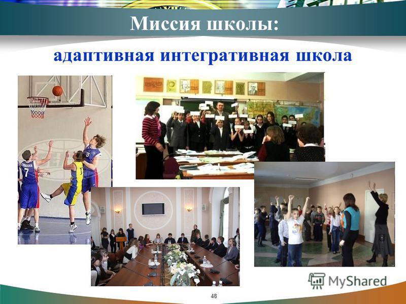 Миссия школы: адаптивная интегративная школа 48