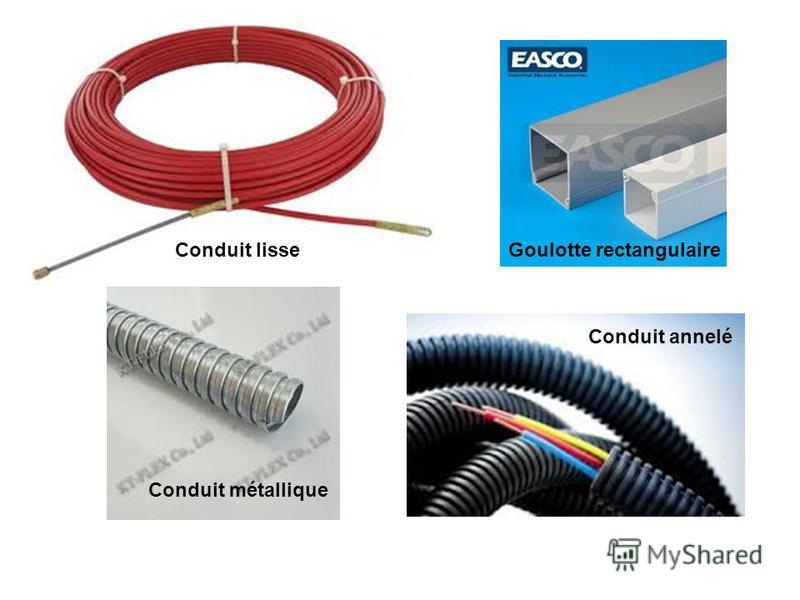 Conduit lisse Conduit annelé Conduit métallique Goulotte rectangulaire