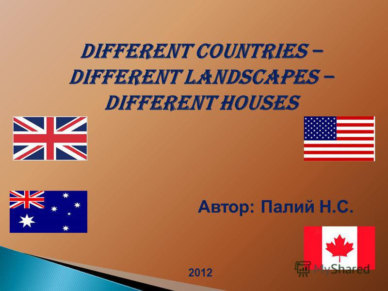 Different Countries – Different Landscapes – Different Houses Автор: Палий Н.С. 2012