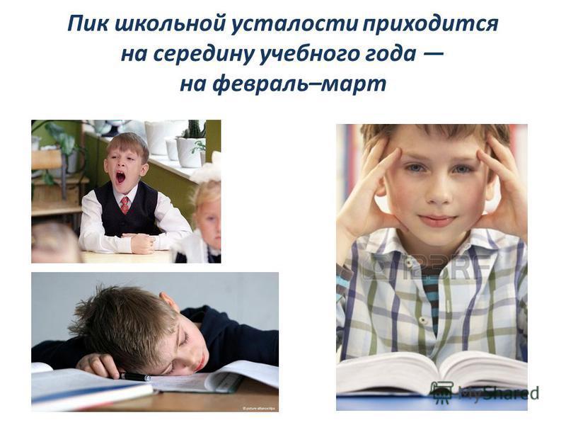 Пик школьной усталости приходится на середину учебного года на февраль–март