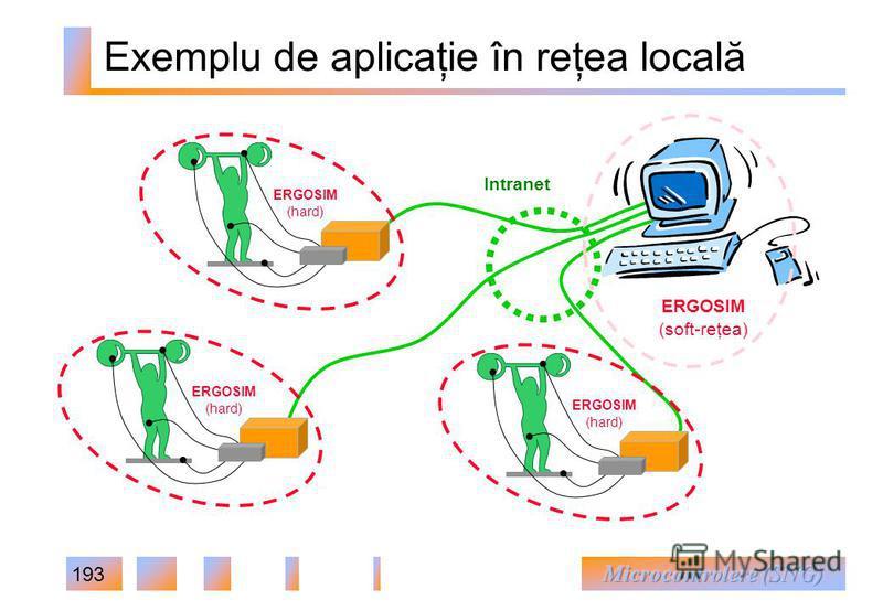 193 Exemplu de aplicaţie în reţea locală ERGOSIM (hard) ERGOSIM (soft-reţea) ERGOSIM (hard) ERGOSIM (hard) Intranet