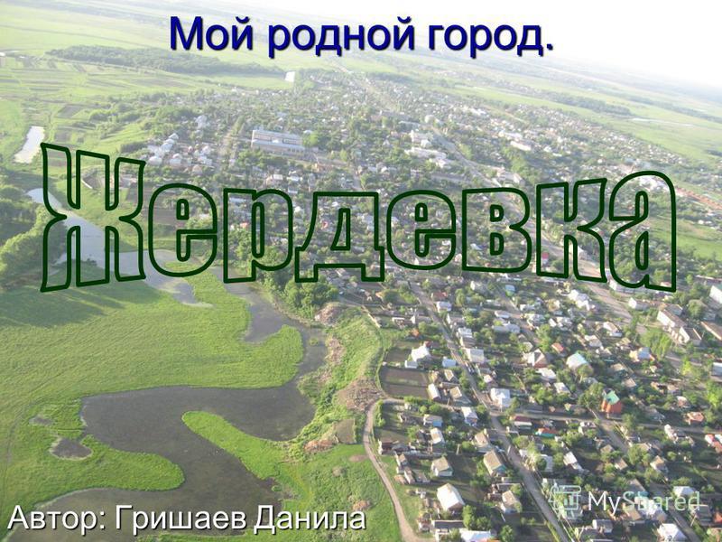 Мой родной город. Автор: Гришаев Данила