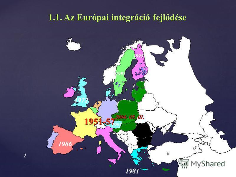 1 Az Európai Unió szervezete és jogrendszere