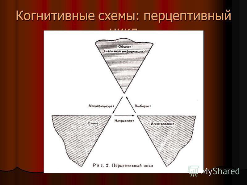 Когнитивные схемы: перцептивный цикл