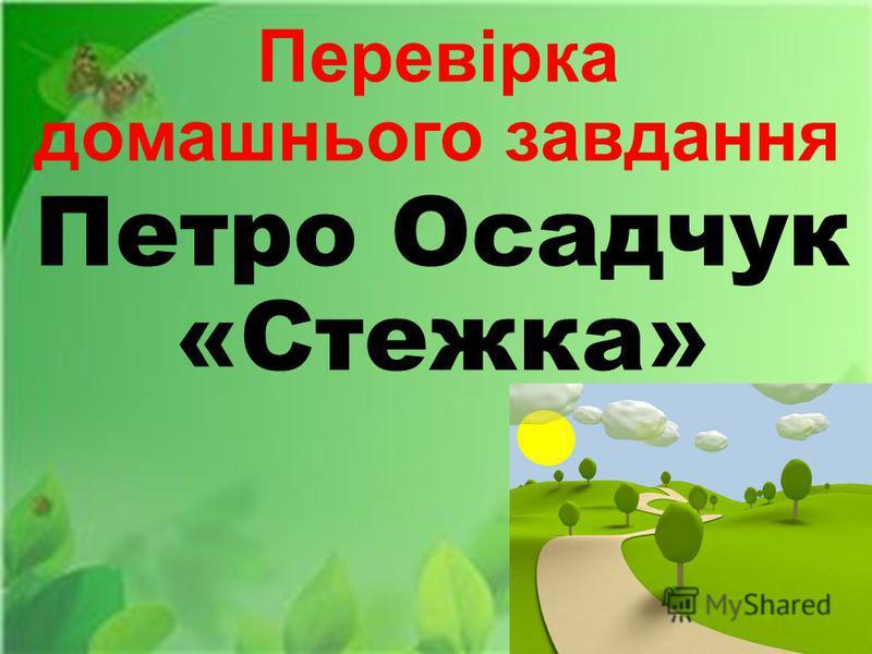 Перевірка домашнього завдання Петро Осадчук «Стежка»