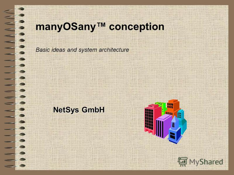 manyOSany conception NetSys GmbH Basic ideas and system architecture