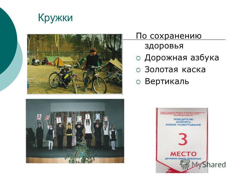 Кружки По сохранению здоровья Дорожная азбука Золотая каска Вертикаль