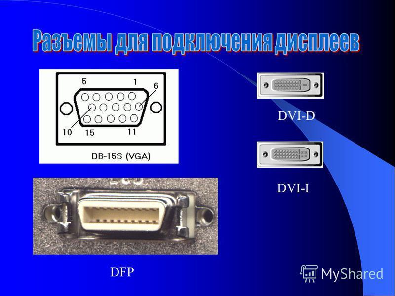 DFP DVI-D DVI-I