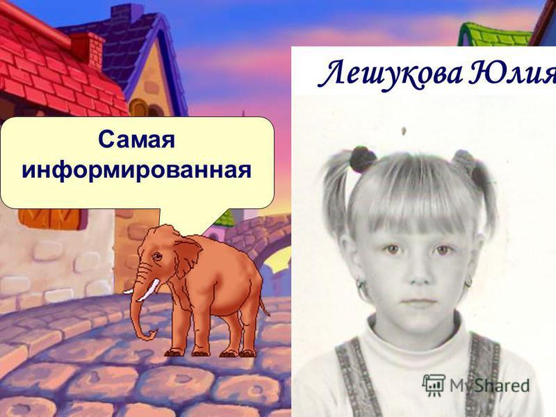 Самая информированная Лешукова Юлия