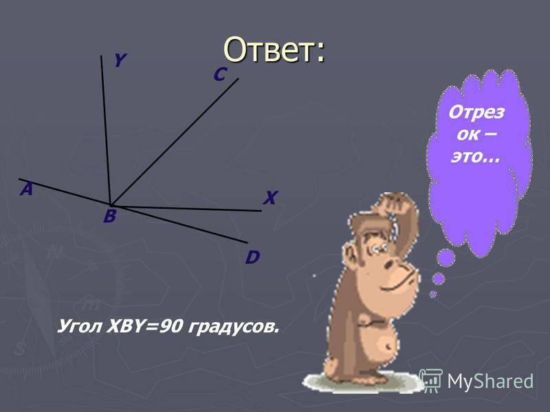 Ответ: A B D X C Y Угол XBY=90 градусов. Отрез ок – это…