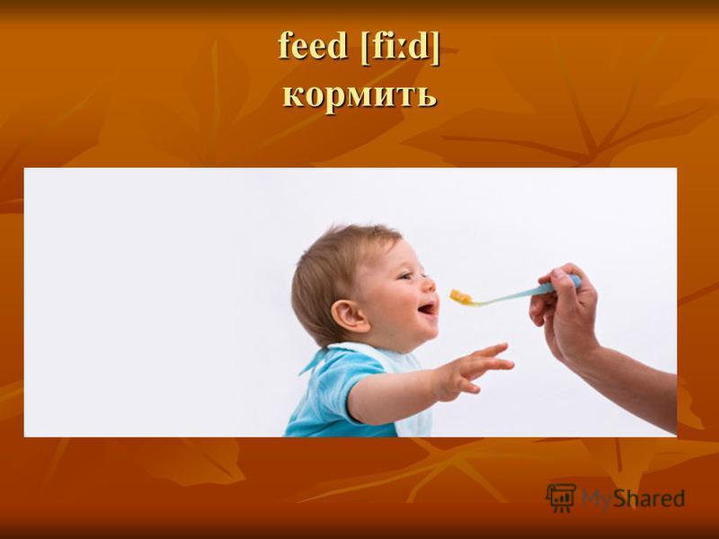 feed [fi ː d] кормить