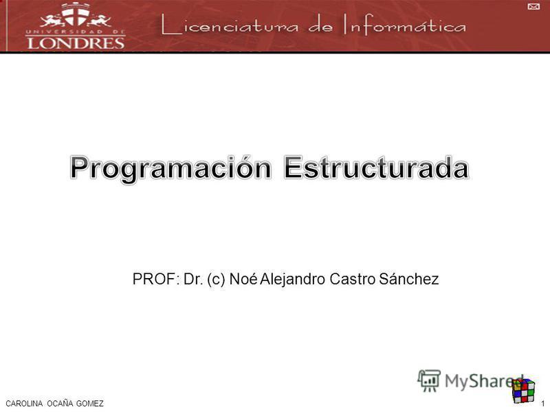 1CAROLINA OCAÑA GOMEZ PROF: Dr. (c) Noé Alejandro Castro Sánchez