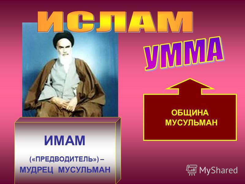 ОБЩИНА МУСУЛЬМАН ИМАМ («ПРЕДВОДИТЕЛЬ») – МУДРЕЦ МУСУЛЬМАН
