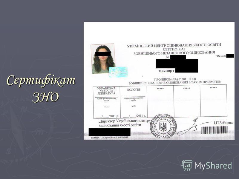 Сертифікат ЗНО