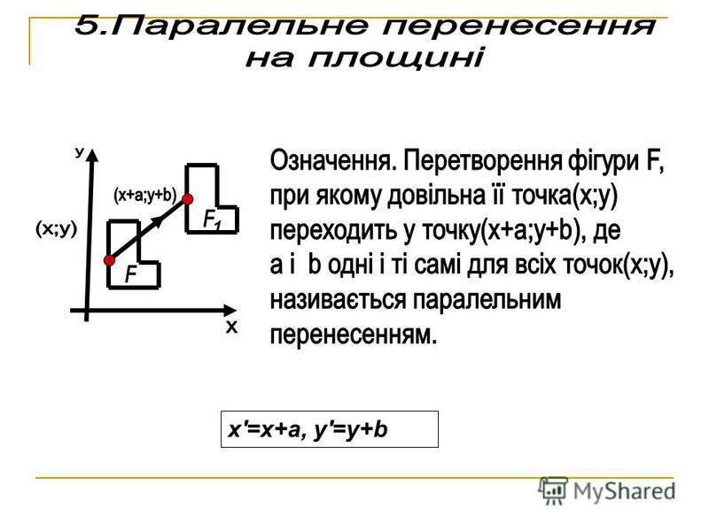 x'=x+a, y'=y+b